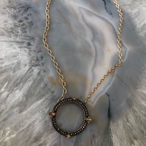 18k gold chain necklace with diamond accents